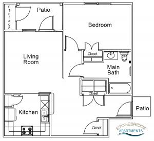 Stonebridge Apartments 1 bedroom apartment Jeffersonville, IN