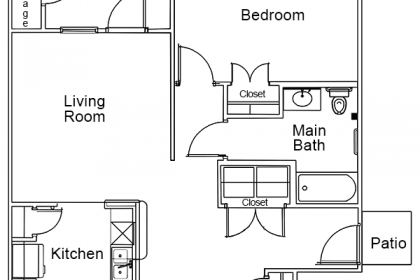 1 Bedroom – 1 Bath