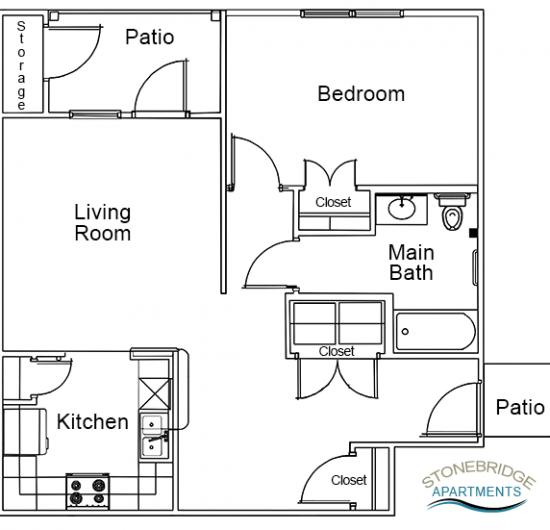 1 Bedroom – 1 Bath