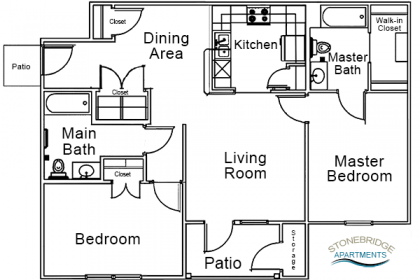 2 Bedroom – 2 Bath