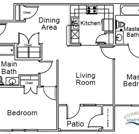 2 Bedroom – 2 Bath